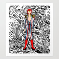 Bowie Fashion 3 Art Print