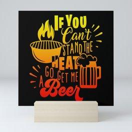 Heat Grill Beer Barbecue Master Season Gift Mini Art Print