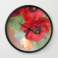 ruby Wall Clocks featuring Ruby by Lisa Argyropoulos
