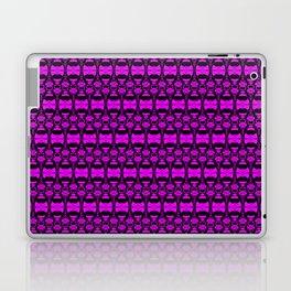 Dividers 02 in Purple over Black Laptop & iPad Skin