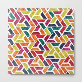 Seamless Colorful Geometric Pattern XII Metal Print