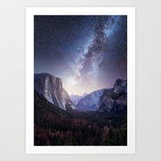 Yosemite Valley Milky Way Art Print