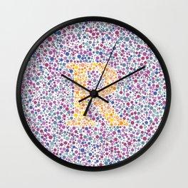 """""""R"""" Eye Test Full Wall Clock"""