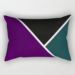 Noir Series - Purple & Green Rectangular Pillow