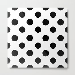 Polka Dots (Black/White) Metal Print