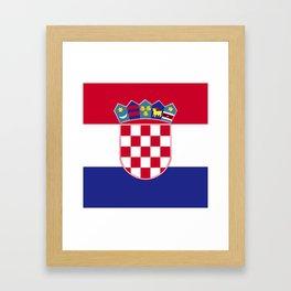 Croatia flag emblem Framed Art Print