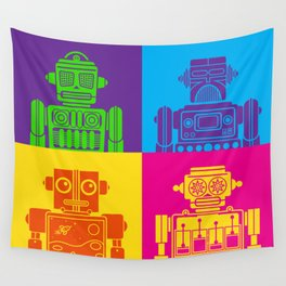 Vintage Tin Toy Robots Wall Tapestry