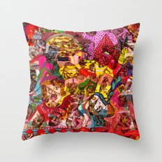 Mini slices brought together push away the stormy weather Throw Pillow