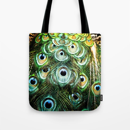 Feathers of a peacock  Tote Bag