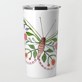 Floral Butterfly 3 Travel Mug