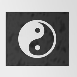 Yin Yang Black White Throw Blanket