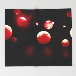 Crimson Orbs Throw Blanket