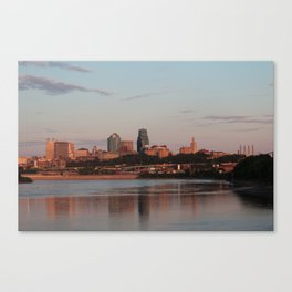 Downtown Kansas City at Sunset Canvas Print