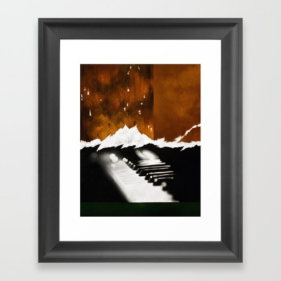 Music Triptych: Piano Framed Art Print