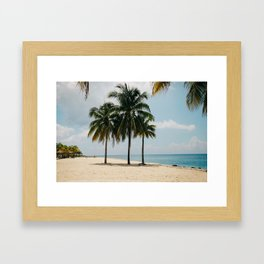 Beach Side Happy Place Framed Art Print