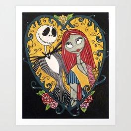 Jack Skellington and Sally 2 Art Print