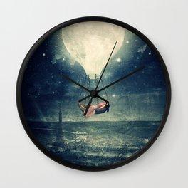 Moon Reverie over Paris Wall Clock