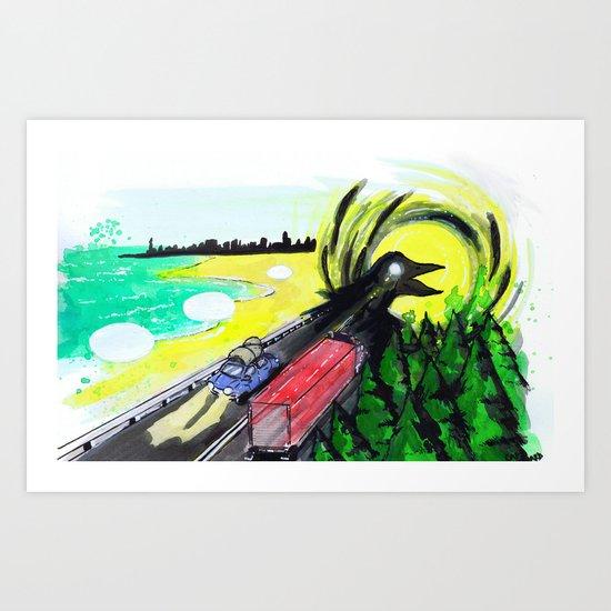 """""""Summer Tours"""" by Cap Blackard Art Print"""