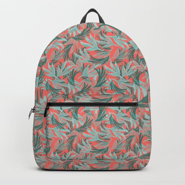 Pattern leaves forest Rucksack