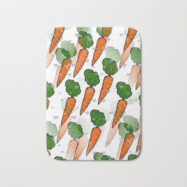 Carrot Popart by NIco Bielow Bath Mat