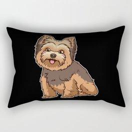 Yorkshire Terrier Yorkie Dog Gift Rectangular Pillow