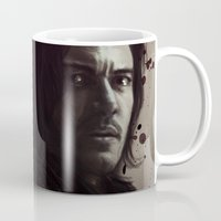 dracula Mugs featuring Dracula by LindaMarieAnson