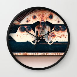 Industrial Landscape On The Face Of A Typewriter Wall Clock