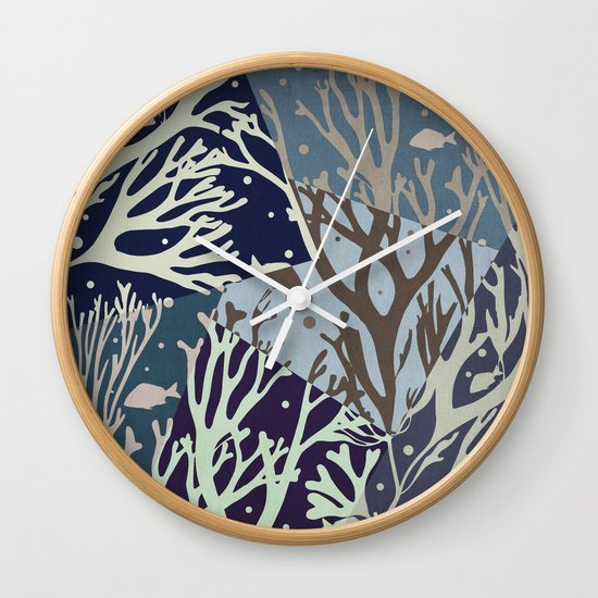 Under the Sea - Abstract Wall Clock