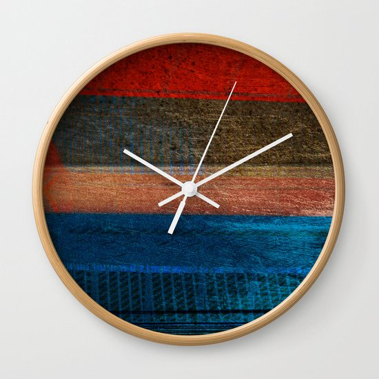 Chalked Filthy And Worn Wall Clock