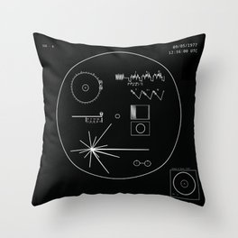 Voyager 1 - Black Throw Pillow