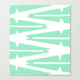 Green Tribal Canvas Print