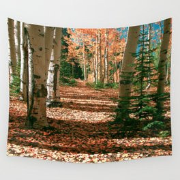 Aspen Tree  Autumn Hike in Colorado Wall Tapestry
