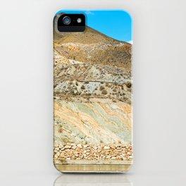 Landscape desert in Almeria, Andalusia, Spain iPhone Case