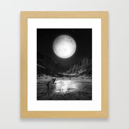 Somewhere You Are Looking At It Too Framed Art Print