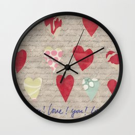 Love! You! Wall Clock
