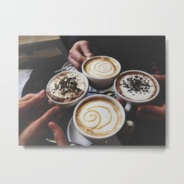 Coffee with Friends Metal Print