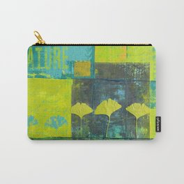 Green nature greenery gingko leaf collge Carry-All Pouch