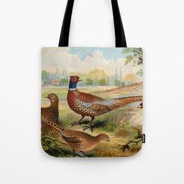 Vintage Pheasants Tote Bag