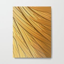 Sun-kissed Straw Metal Print