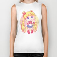 sailor moon Biker Tanks featuring Sailor Moon by strawberryquiche