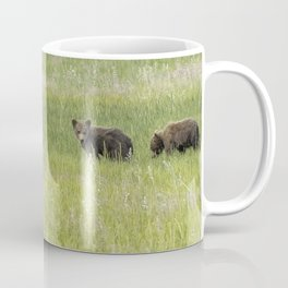 Mother Brown Bear With Her Two Cubs, No. 2 Coffee Mug