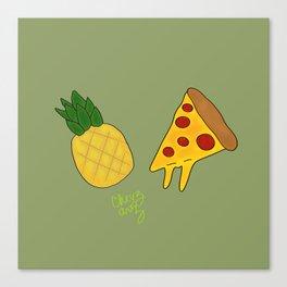 Pineapple Pizza Canvas Print