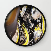 motorcycle Wall Clocks featuring Motorcycle by Carlo Toffolo