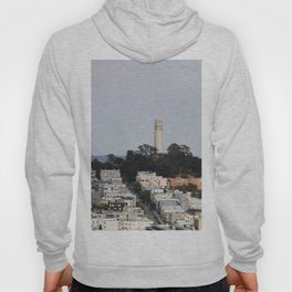 Streets Of San Francisco With Coit Tower Hoody