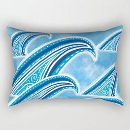 Wave of Blue Rectangular Pillow