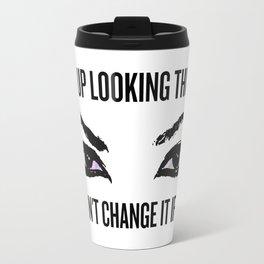 Wake Up, Flawless (White) Travel Mug