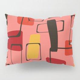 Bold Orange Art Deco Pillow Sham
