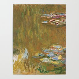 Monet, The Water Lily Pond 1917 Poster