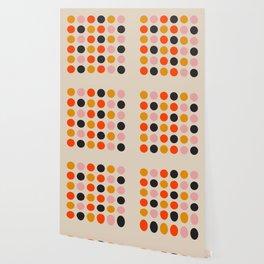 Retro Bauhaus Dots   70s European Pattern Wallpaper