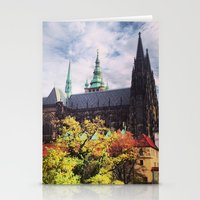 prague Stationery Cards featuring Prague by Lucie Démon